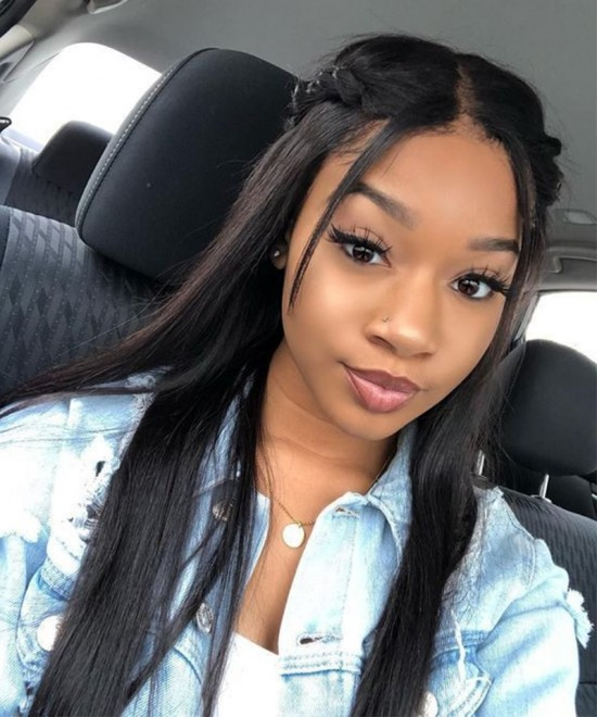 Dolago Wigs Straight Silk Base Full Lace Wigs Human Hair With Baby Hair 180% Density Brazilian Virgin Full Lace Human Hair Wigs For Black Women Pre Plucked