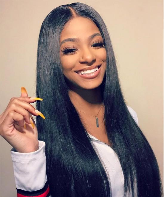 Dolago Hair Straight Wave  Clip In Human Hair Extensions 7 Pieces/Set 120g Virgin Hair Clip Ins For Black Women