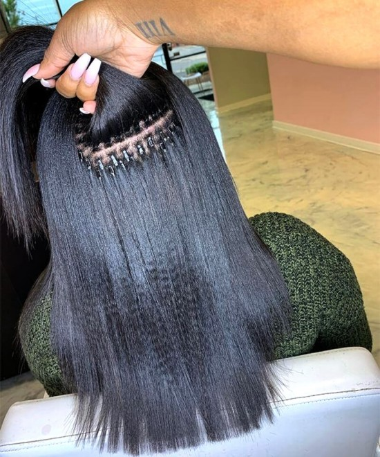 Yaki straight i tip human hair extensions for women online sales