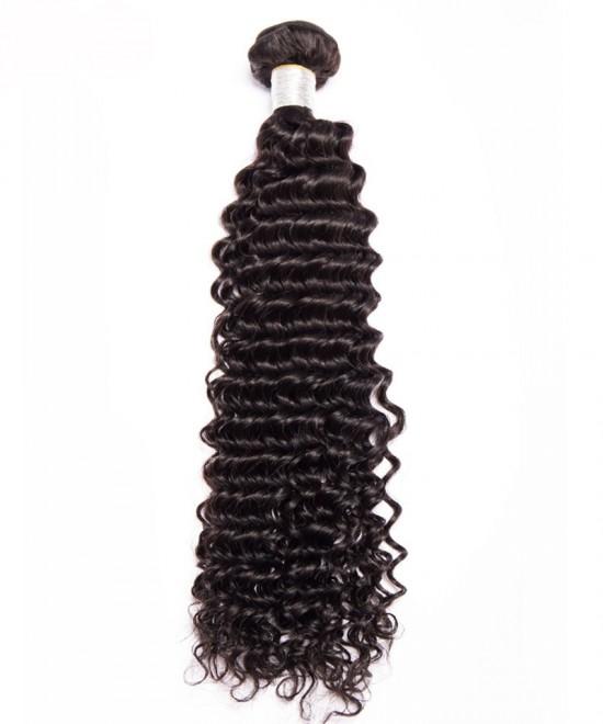 Dolago 1 pc Deep Wave Brazilian Virgin Hair Unprocessed Human Hair Bundles