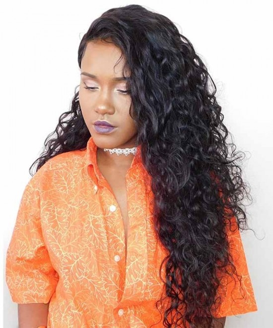 Dolago Hair Wig 250% Density Brazilian Water Wave Human Hair Wigs Pre Plucked With Baby Hair Brazilian 13x6 Lace Front Wigs For Black Women