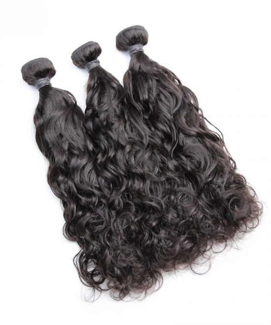 Dolago Indian Virgin Hair Bundles For Sale 10-30 inches Indian Water Wave Hair 3 Pieces Human Virgin Hair Weaves From Wholesale Hair Vendors