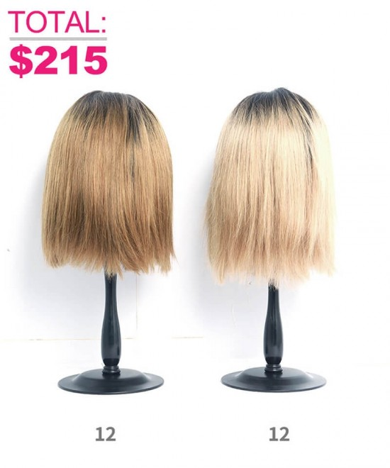 1B/30 Ombre Color Lace Front Human Hair Wigs