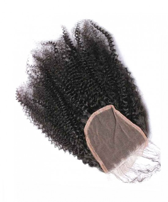Dolago 100% Human Hair Top Closure 4x4 Lace Closure Afro Kinky Curly