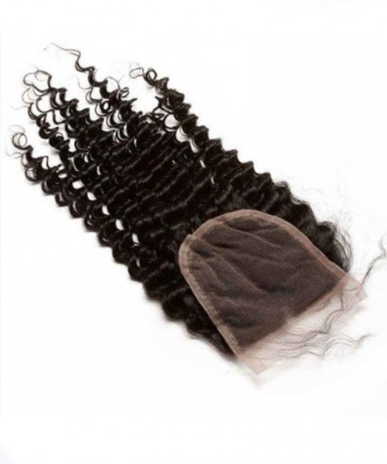 Dolago Brazilian Virgin Hair Kinky Curly Human Hair Lace Closure 4x4 Lace Size