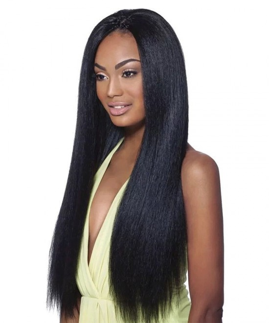 Light Yaki Straight Clip in Human Hair Extensions 120g/7pcs