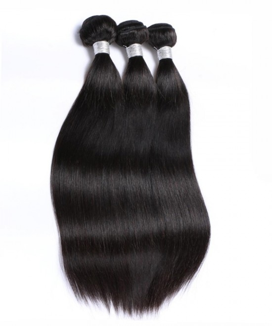 Dolago Peruvian Virgin Hair Yaki Straight Bundles 100% Human Hair 3 Pcs