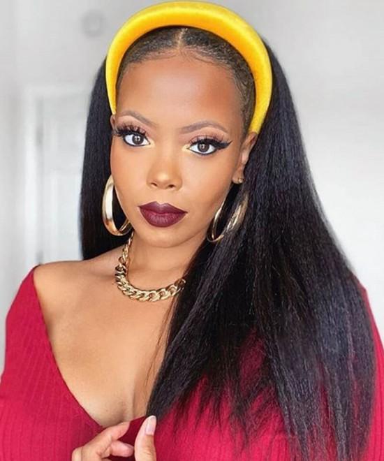 Best cheap headband wigs natural hair African American For Black Women