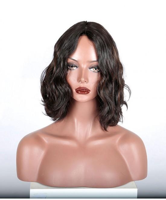 Dolago Silk Top Kosher Wig Bouncy Wavy 1b/30 Highlight Jewish Wig