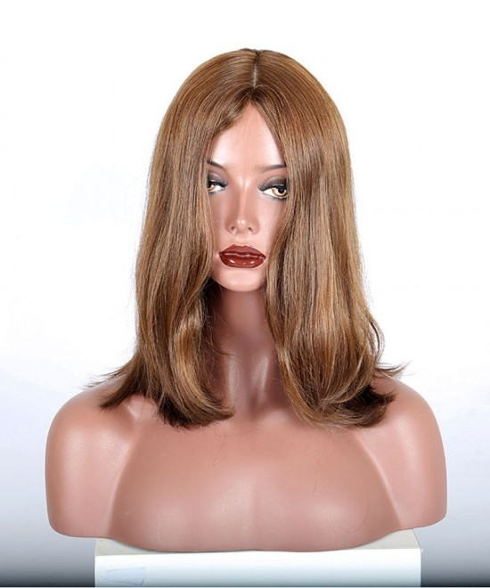 Dolago 9A European Virgin Hair Straight Jewish Wig Silk Top Kosher Wig