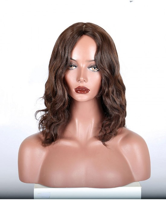 Dolago Jewish Wigs Natural Wave Brown Color