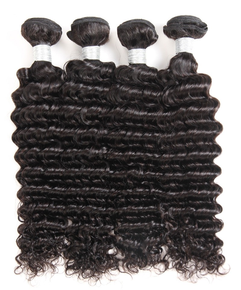 Dolago Brazilian Hair Weave Bundles Deep Wave 3 Pcs Brazilian Virgin