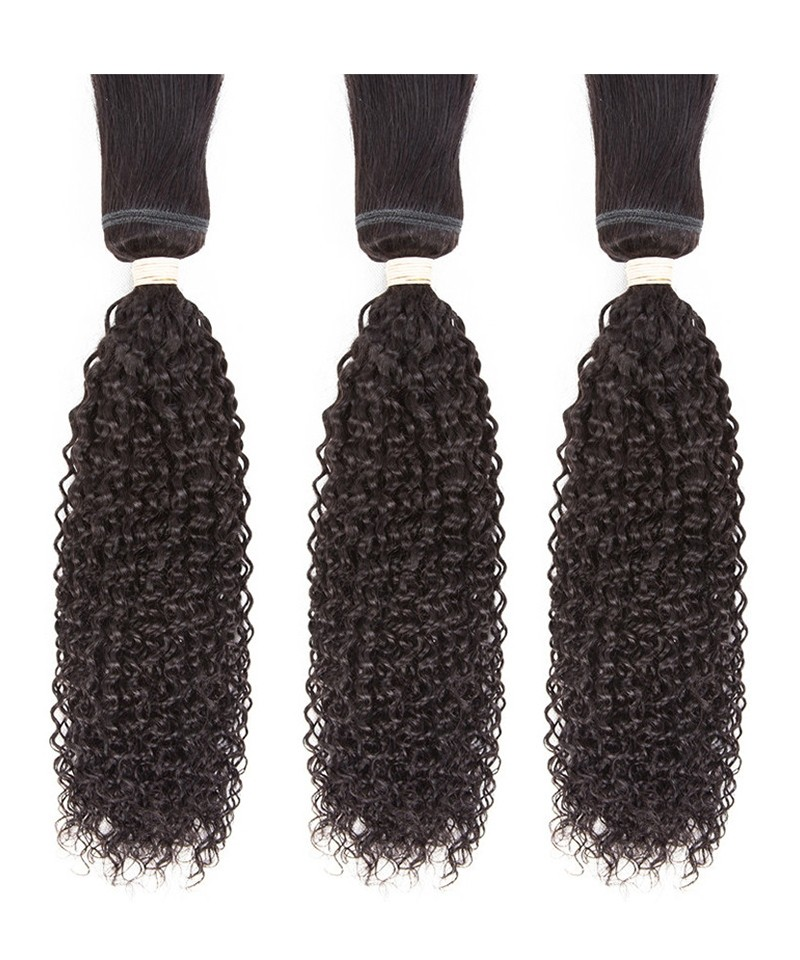 Dolago Brazilian Kinky Curly Braid In Bundles Human Hair Weave 3 Pcs