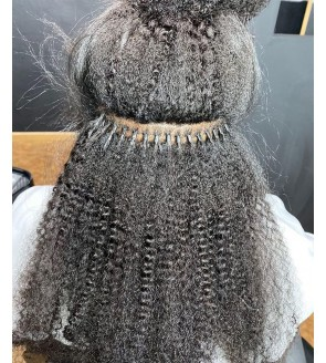 Afro kinky curly i tip human hair extensions Brazilian afro kinky curly i tip hair bundles to make long hairstyles on sales 100 pieces/set remy fusion stick keratin tip extensions cheap