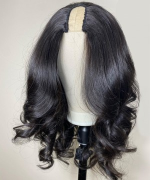 Dolago Hair Wigs Body Wave U Part Wig For Sale Natural Hair With Baby Hair 250% Density Cheap U Part Human Hair None Lace Wigs For Black Women