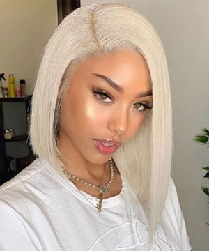 Dolago 613 Blonde Full Lace Colorful Wig Straight 130% Density  Full Lace Human 10A Virgin Hair Wig
