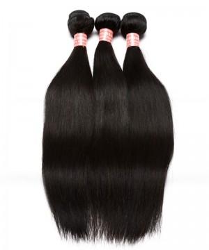 Doalgo Straight Wave Brazilian Virgin Hair Bundles Sale 3Pics Natural Color Human Hair Weaves 10-30 Inches Brazilian Human Hair Extensions