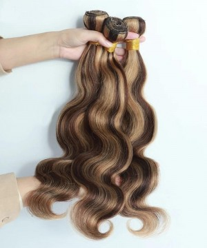 4/27 mixed color Brazilian body wave human hair weave bundles