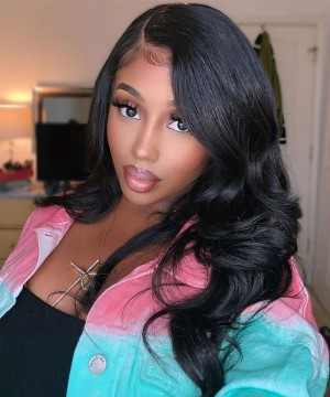 invisible lace front wigs for women body wave