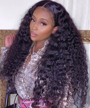 Deep Curly 13x6 Lace Front Human Virgin Hair Wigs For Sale