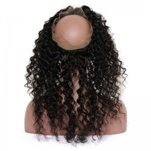 DOLAGO Pre Plucked Deep Wave 360 Lace Frontal Closure With Baby Hair Free Part