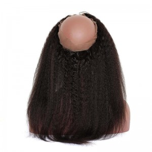 DOLAGO Pre Plucked Kinky Straight 360 Lace Frontal Closure With Baby Hair
