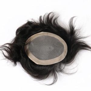 Dolago Mono Base Replacement Human Hair Men Toupee For Bald Human Hair Toupee