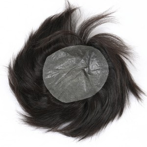 Dolago Unprocessed Brazilian Hair Replacement Soft Material Men Wig
