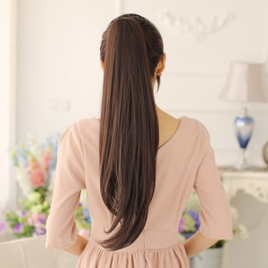 Flash Dolago Straight Ponytail For Women Clip In Ponytails Human Hair 22Inch