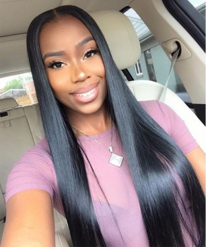 Dolago Hair Wigs Straight Wave U Part Wig For Sale Natural Hair With Baby Hair 250% Density Cheap U Part Human Hair None Lace Wigs For Black Women