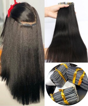 straightkeratin strips human hair extensions for women at cheap prices