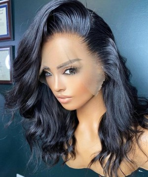 Best quality invisible Hd lace front wigs for women body wave