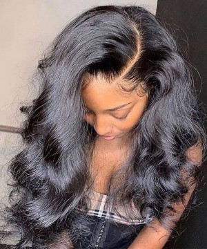 Undetectable hd full lace wigs body wave online wig store for sale