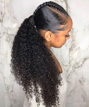 Curly Wrap Ponytail Human Hair Magic Horsetail Wrap Around