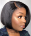 Dolago Hair Wig Straight Short Bob Wigs 250% Density Lace Front Human Virgin Hair Wigs For Black Women Pre Plucked With Baby Hair