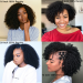 Dolago Hair Wigs U Part Afro Curly Wig With Baby Hair 180% Density Afro Human Virgin Hair Wigs For Black Women