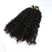 Dolago 3B 3C Kinky Curly I Tip Hair Extension Keratin Fusion Hair Extensions Micro Ring Cuticles Nail 100 Pieces For One Set And Two Set Will Make Full Heads