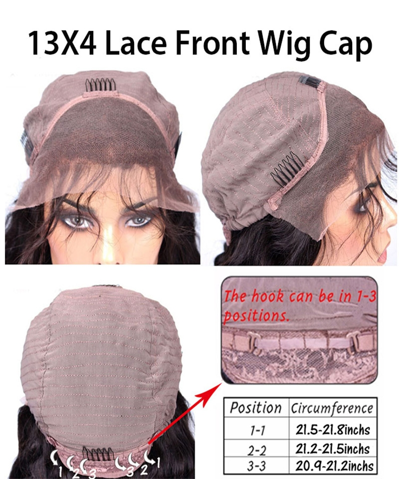 the 13X4 lace part wig cap size