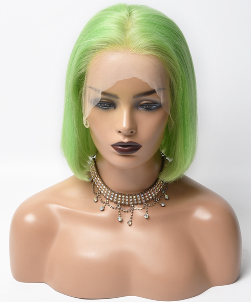 colorful wigs green