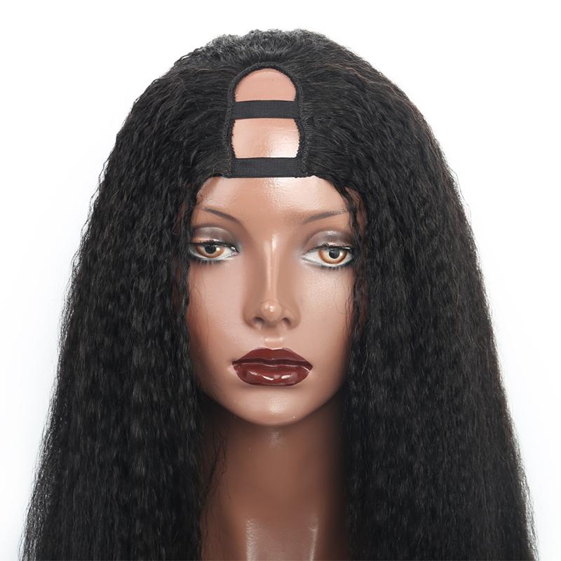 kinky straight U part human hair Wigs
