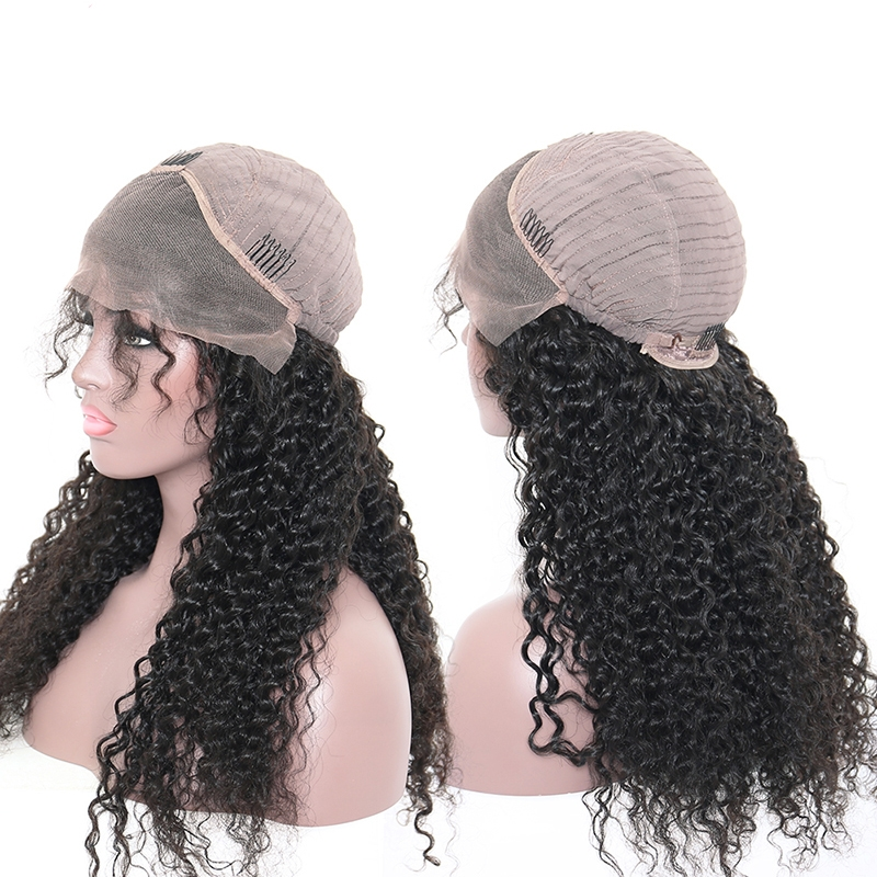deep curly human hair wigs for women