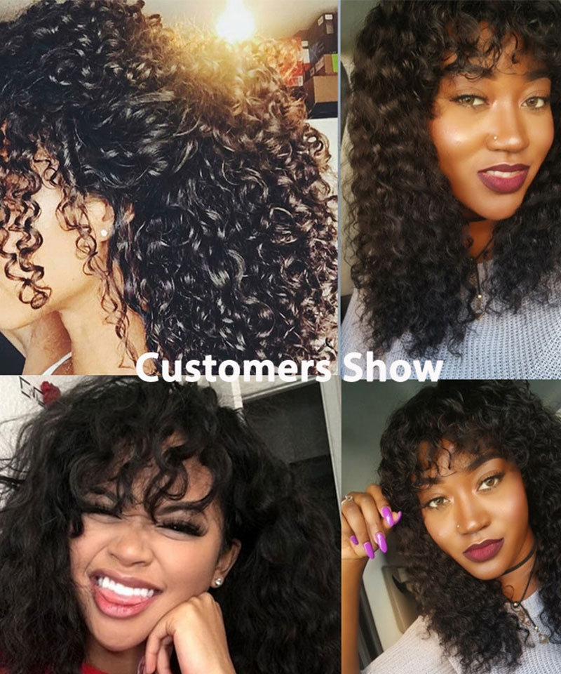 Dolago Hair Wigs Curly Bob 13x6 Lace Front Human Virgin Hair Wigs For Black Women