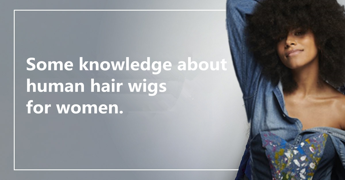 Some knowledge about human hair wigs for women.