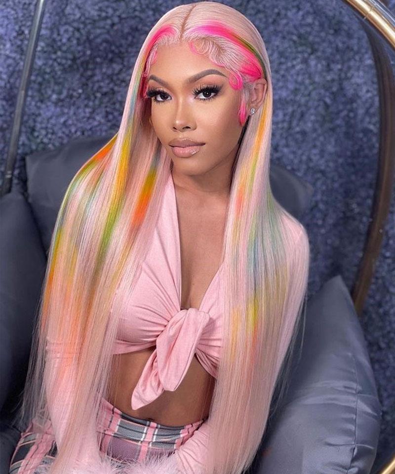 u part hair wigs 613 blonde oolorful