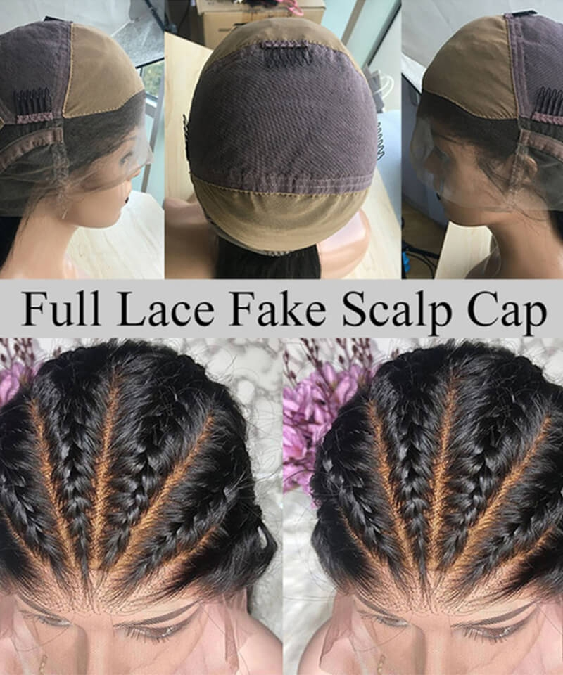 quality fake scalp wig for women