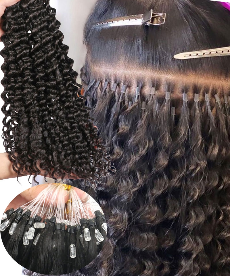 deep wave mirco link hair extension