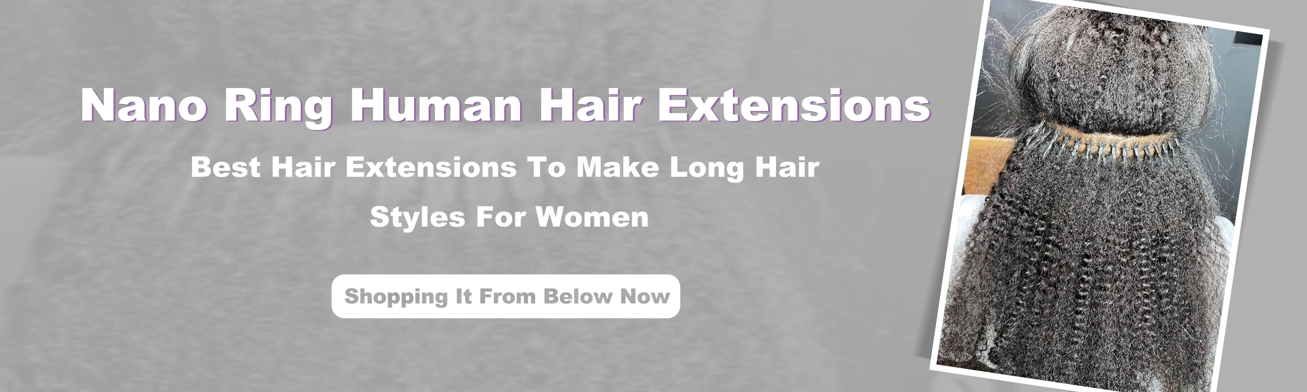 Micro Ring Hair Extensions For Women